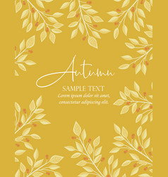 autumn nature background vector image
