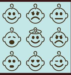 Baby smileys set vector