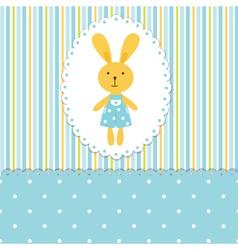 Background with rabbit boy vector