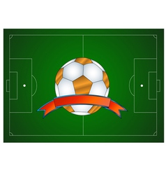 Ball icon in the field vector