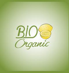 bio organic vector image