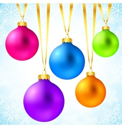 Bright colorful rainbow Christmas balls vector image