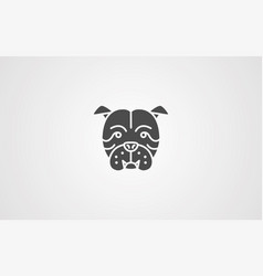bulldog icon sign symbol vector image