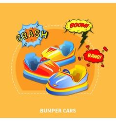 Bumper cars concept vector