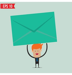 Businessman holding envelope vector image