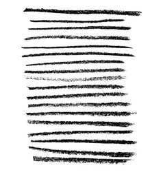 chalk brushes set grunge stripes with chalk vector image