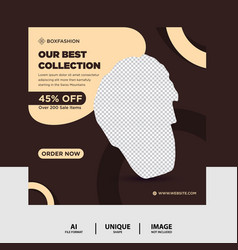Chocolate color watch brand product social media vector