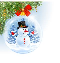 christmas and new year ball vector image