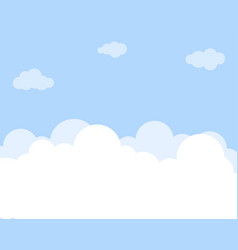 Cloud set with blue sky background vector