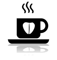 Coffee love vector image
