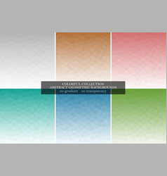 collection of abstract polygonal geometric vector image