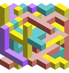 Colorful 3D cubes vector image