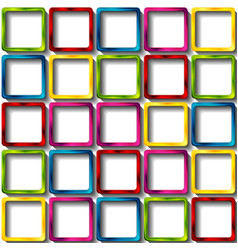 colorful glossy squares abstract background vector image