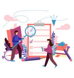 Concept to do list checklist done job creative vector