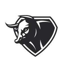 cow head vector image