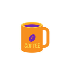 Cup of coffee - mug with hot invigorating drink vector