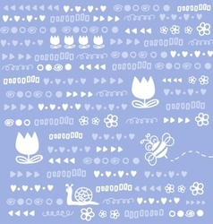 Cute doodles background vector image