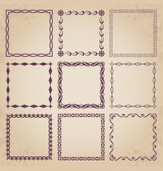Decorative retro frames vector