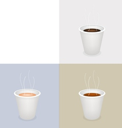Disposable Coffee Cups vector image