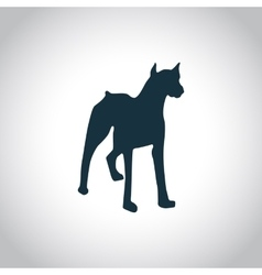 Dog simple icon vector
