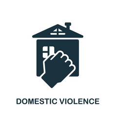 Domestic violence icon simple element from vector