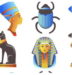 Egypt and egyptian mythological signs seamless vector