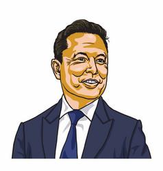 Elon musk famous founder ceo entrepreneur vector