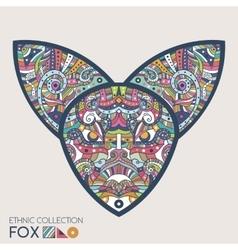 Ethnic colored head fox vector