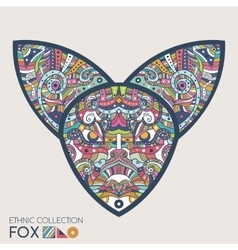Ethnic colored head of the fox vector