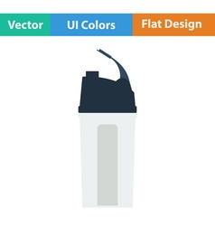 Flat design icon of Fitness bottle vector image