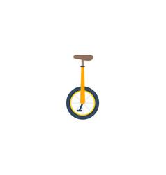 flat icon monocycle element vector image