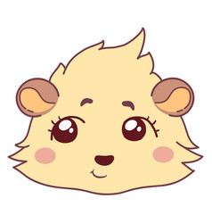 Funny cavy pondered - speculation emoticons girl vector