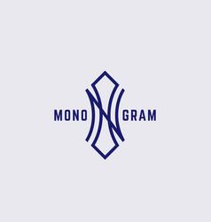 Geometric monogram vector
