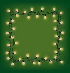 glowing garland frame decorative light garland vector image