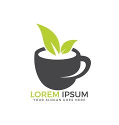 green tea logo company vector image
