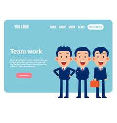 group happy character team teamwork concept vector image