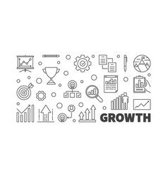 Growth or banner in outline vector