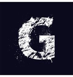 Grunge letter G vector