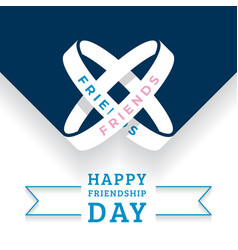 happy friendship day holiday bracelets vector image
