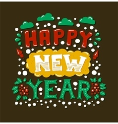 Happy New Year Vintage Poster vector
