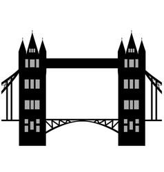 image of cartoon tower bridge silhouette isolated vector image