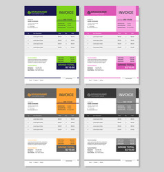 invoice template receipt bill total budget vector image