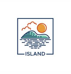 island line vector image