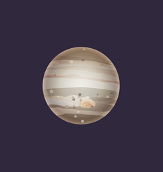 Jupiter planet in deep space icon vector