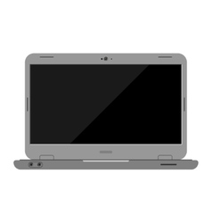 Laptop computer isolated vector