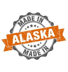 Made in alaska round seal vector