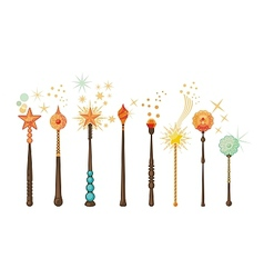 Magic Wands Set vector
