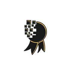 medals digital winning logo designs inspiration vector image