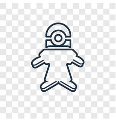 minion concept linear icon isolated on vector image