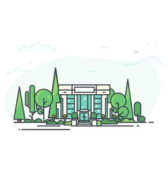 modern bank and park vector image